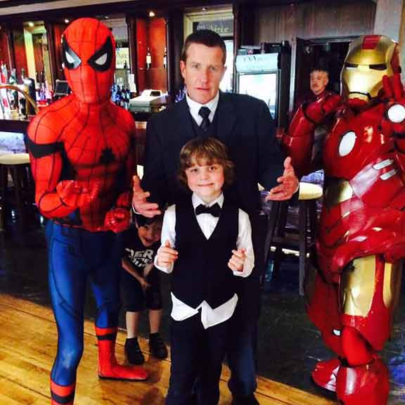 Spiderman Iron man party